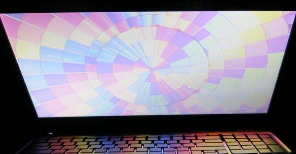 Вертикальный угол обзора ноутбука HP ENVY dv7
