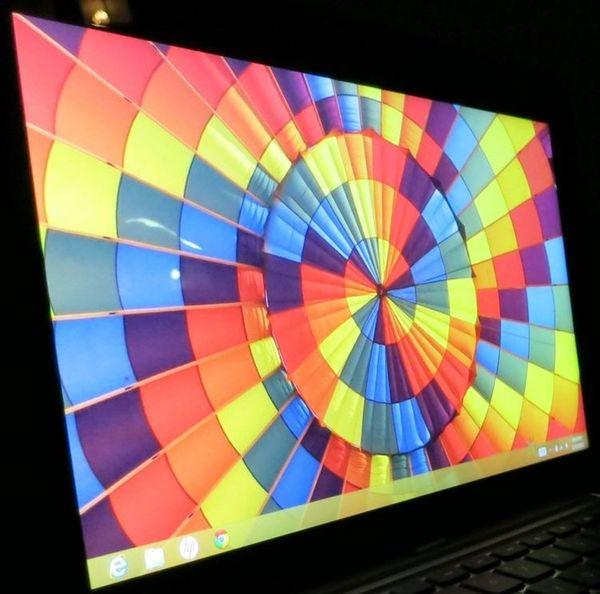 Горизонтальный угол обзора ноутбука HP ENVY x2