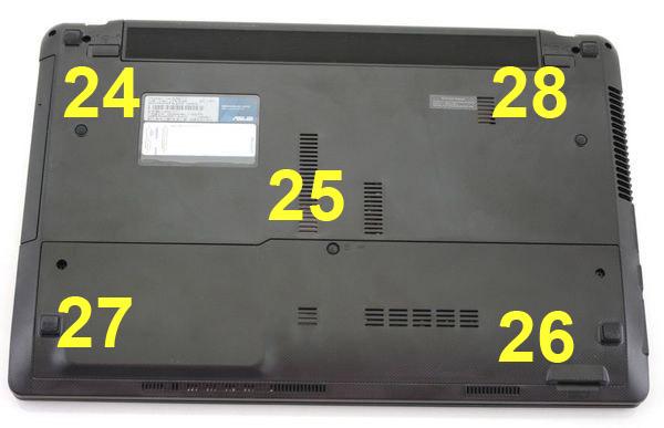 Температура на нижней поверхности ноутбука Asus K53E