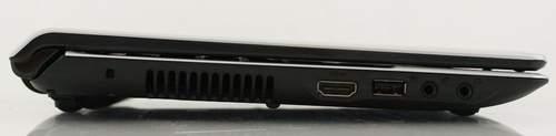 Левая сторона ноутбука ASUS UL20FT