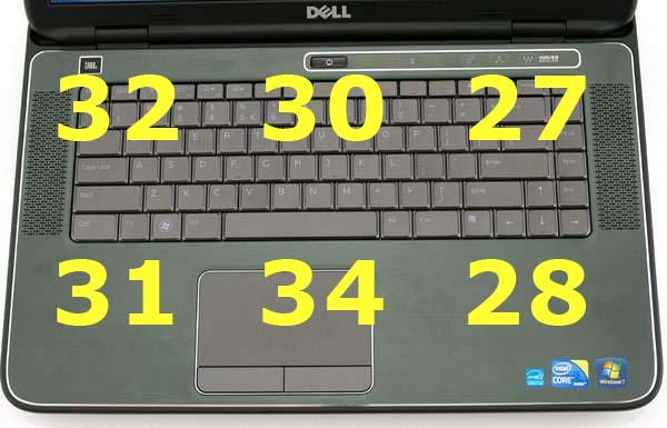 Нагрев ноутбука Dell XPS 15 - верхняя сторона