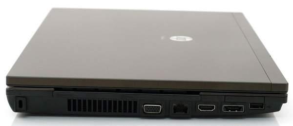 Левая сторона ноутбука HP ProBook 4520