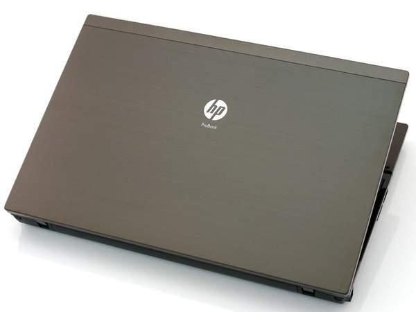 Применение металла при сборке HP ProBook 4520 делает конструкцию более прочной и улучшает внешний вид