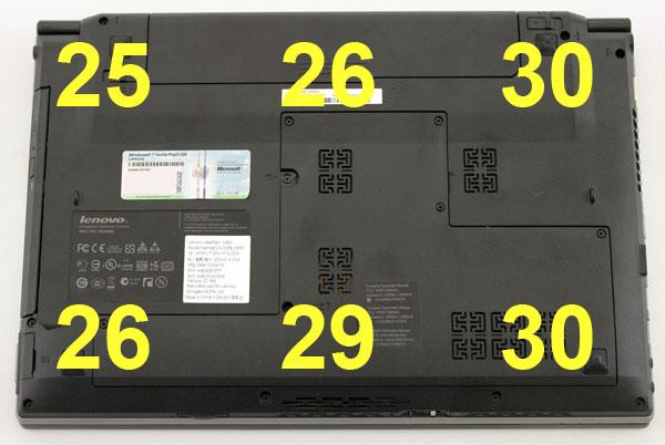 Нагрев ноутбука Lenovo IdeaPad V460 с нижней стороны