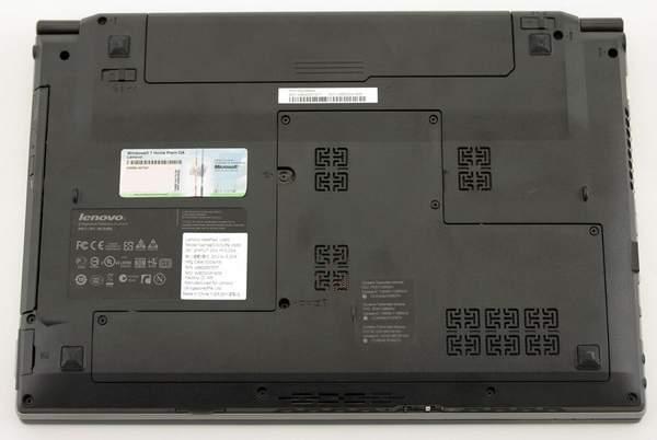 Нижняя сторона Lenovo IdeaPad V460