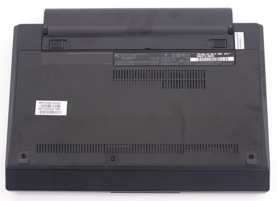 Ноутбук ThinkPad X120e имеет неплохие возможности по апгрейду