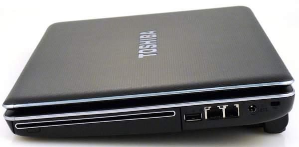 Ноутбук Toshiba Satellite U505 - вид справа