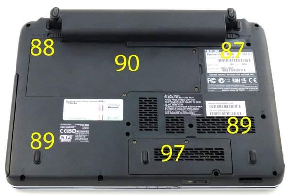 Температуры в основании Toshiba Satellite U505