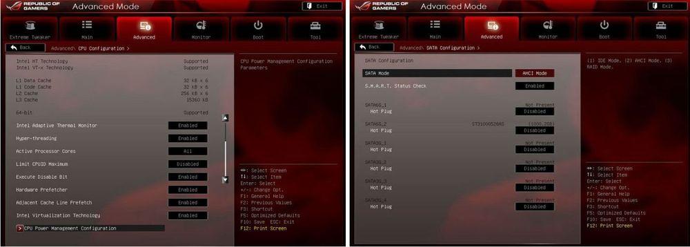 Раздел BIOS Advanced