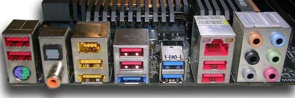 Задняя панель ввода/вывода