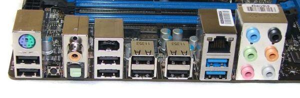 Порты материнской платы MSI X79A-GD65