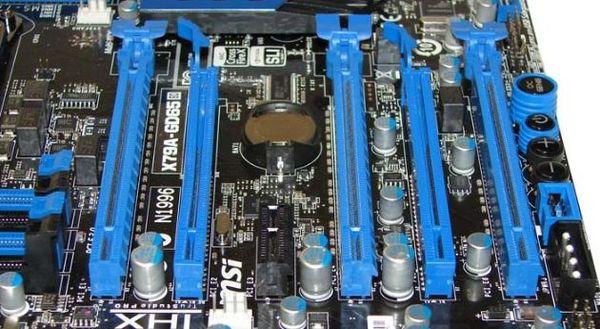 Слоты расширения MSI X79A-GD65