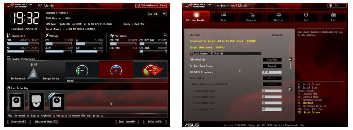 EZ и Advanced Mode