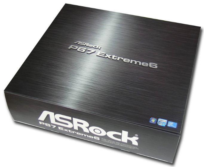 Упаковка материнской платы ASRock P67 Extreme6