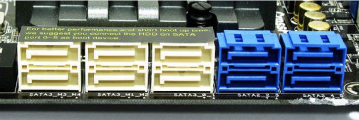 На материнской плате ASRock P67 Extreme6 имеется 6 портов SATAIII