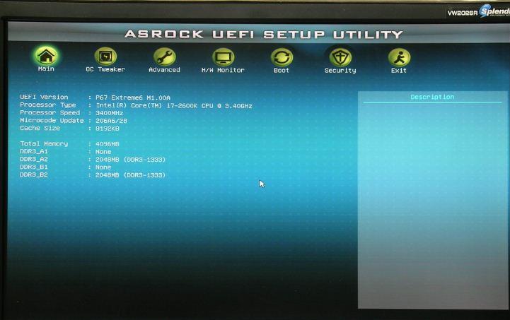 UEFI BIOS ASRock Extreme6
