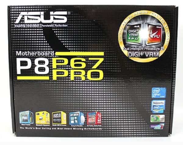 Упаковка материнской платы Asus P8P67 Pro
