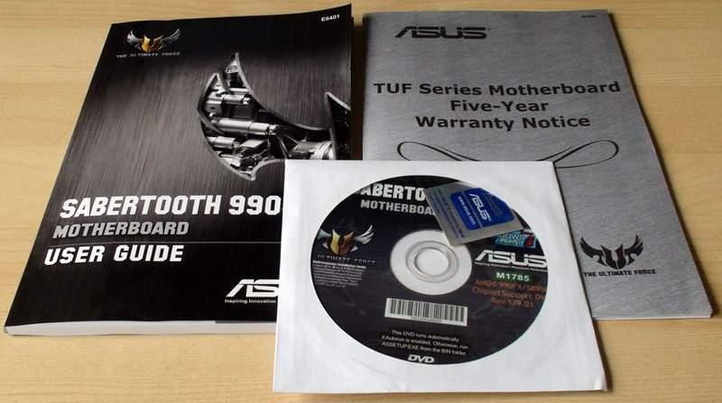 Комплектация материнской платы Asus Sabertooth 990FX