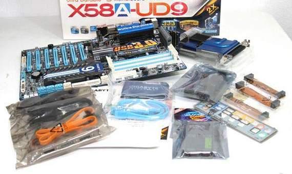 Комплект поставки материнской платы Gigabyte GA-X58A-UD9