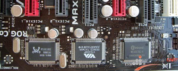 Контроллеры, обеспечивающие работу периферии на Maximus III Formula