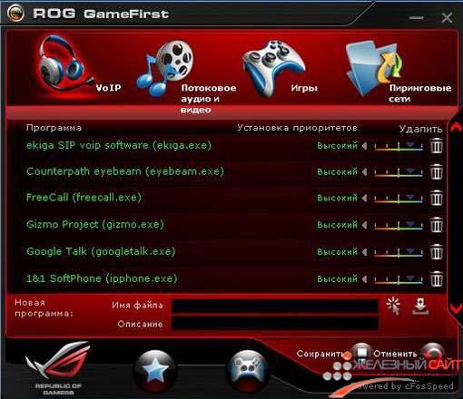 ROG GameFirst управляет интернет - трафиком