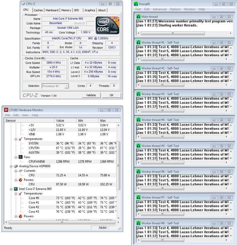 Результаты разгона Core i7 965 на Rampage III Gene