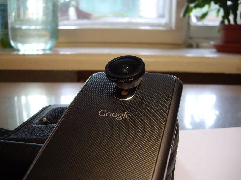 Крепление фишай объектива на Google Nexus