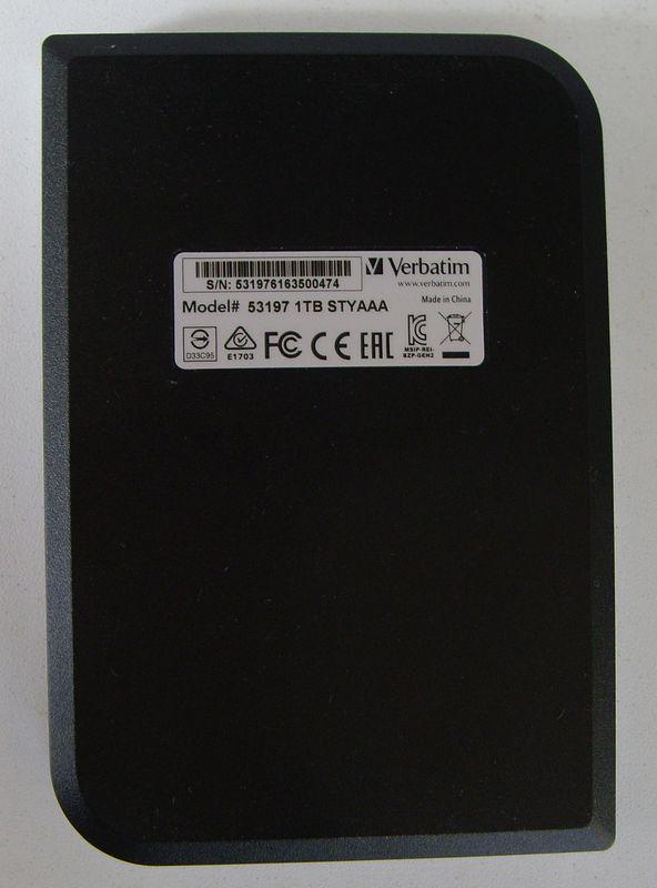 Внешний вид Verbatim Store 'n' Go 1 Тб USB 3.0
