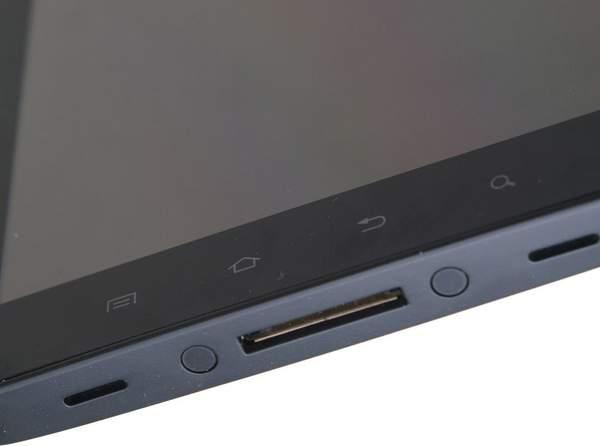 В нижней части Samsung Galaxy Tab находятся динамики