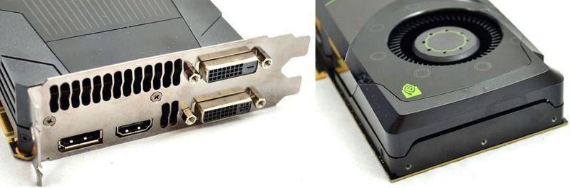Порты видеокарты NVIDIA GeForce GTX 680