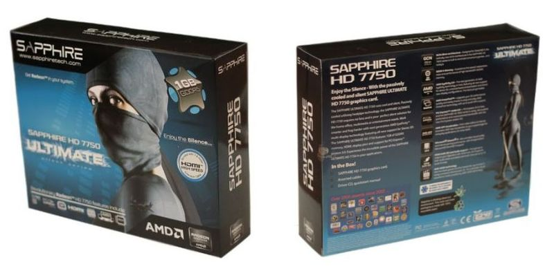 Упаковка Sapphire HD 7750 Ultimate
