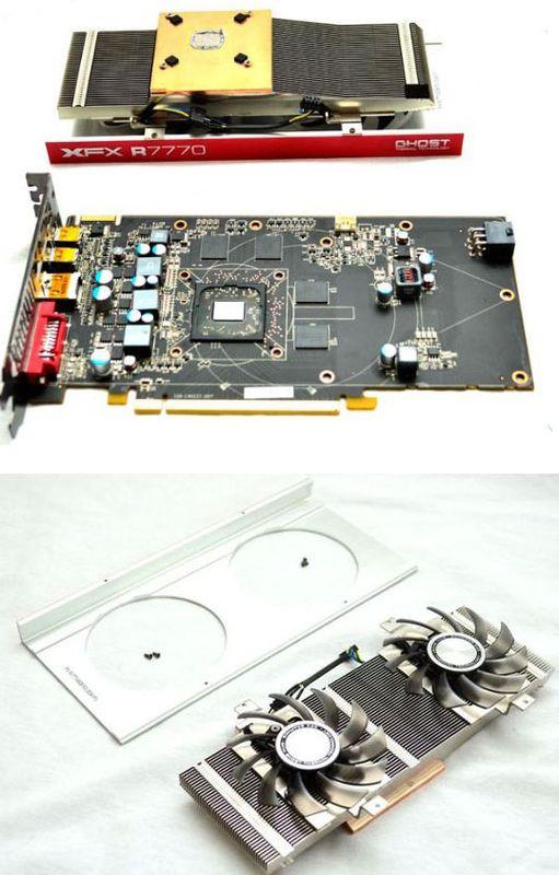 Видеокарта XFX HD 7770 без системы охлаждения