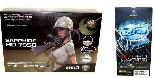 Обзор видеокарт Radeon HD 7950 от XFX и Sapphire