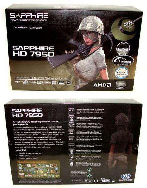 Упаковка видеокарты Sapphire HD 7950