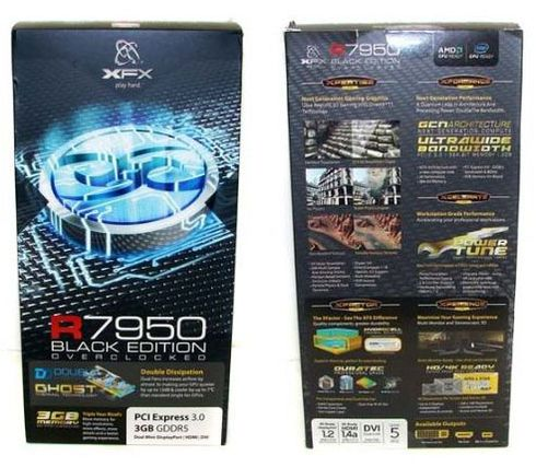 Упаковка XFX HD 7950 Black Edition Double Dissipation