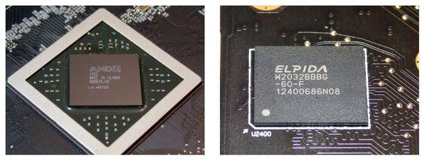 Графический чип и память