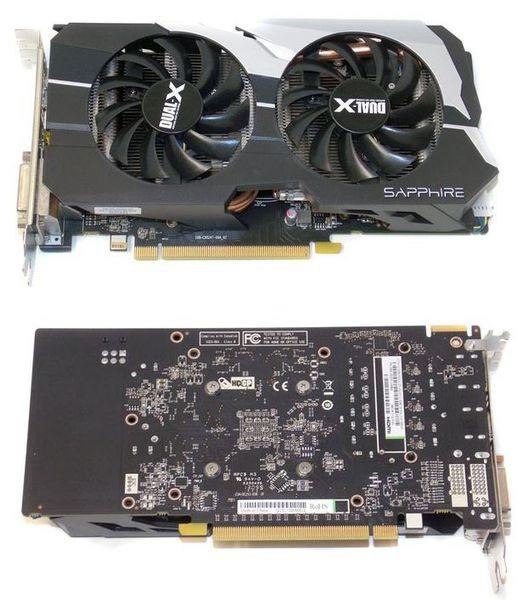 Лицевая и задняя стороны видеокарты Sapphire Radeon HD 7790 Dual-X OC