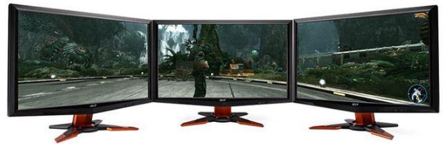 NVIDIA Surround - вывод изображения на три монитора