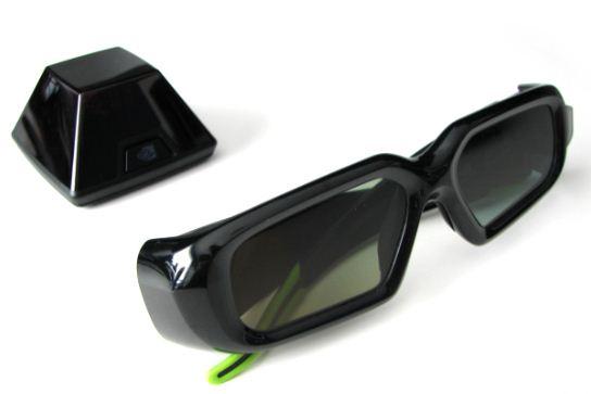 Стереоскопические очки и передатчик 3D Vision NVIDIA
