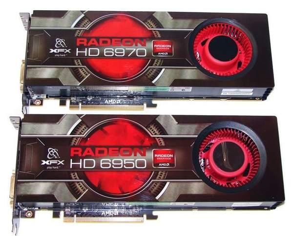 Видеокарты XFX HD 6970 и HD 6950
