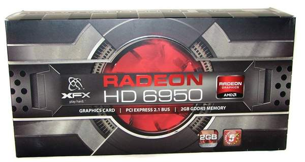 Упаковка видеокарты XFX HD 6950