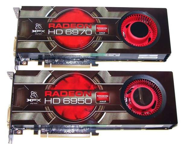 Внешний вид XFX HD 6970 и HD 6950
