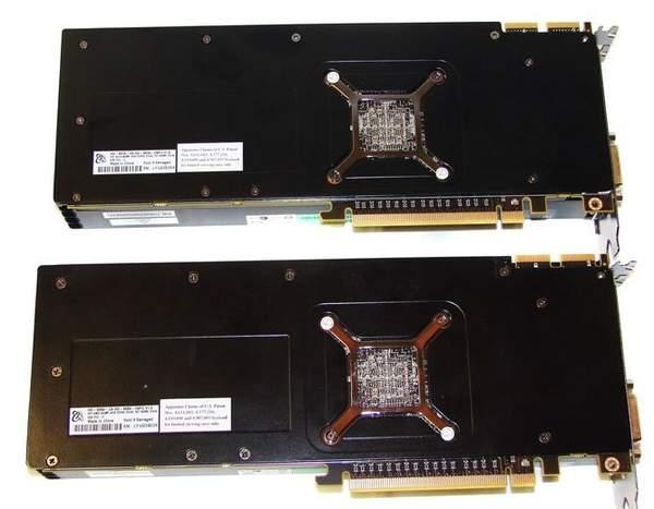 Внешний вид видеокарт XFX HD 6970 и HD 6950 - вид сзади