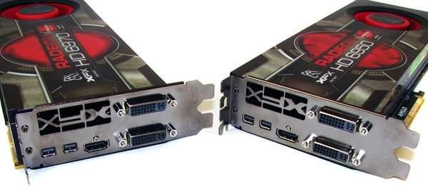 Порты видеокарт XFX HD 6970 и HD 6950