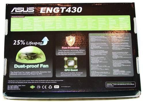 Упаковка Asus ENGT430 - обратная сторона
