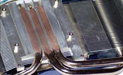 Тепловые трубки имеют прямой контакт с крышкой чипа