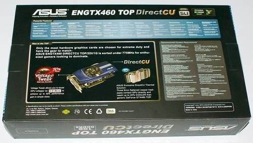 Упаковка Asus ENGTX460 TOP - оборотная сторона