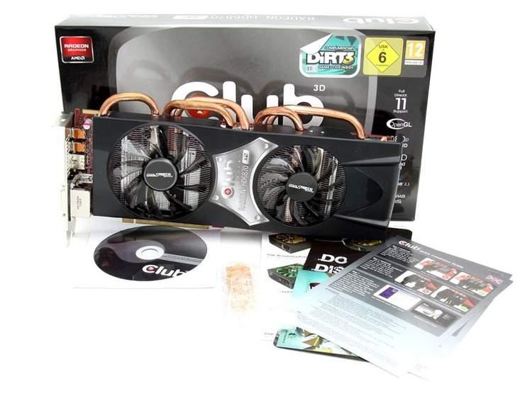 Упаковка и комплектация видеокарты Club 3D Radeon HD 6870 X2