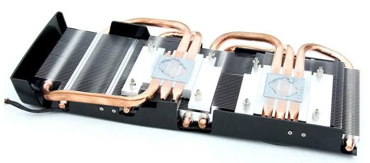 Кулер видеокарты Club 3D Radeon HD 6870 X2