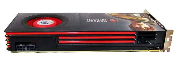 Видеокарта Sapphire HD 6870 - вид сверху